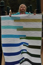 Sea Glass Quilt ~ Front