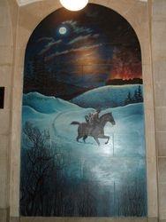 Mural of Symon Schermerhorn's Ride