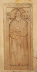 Pastor al bisericii in bazorelief secolul 14