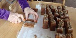 cutting the sample bars