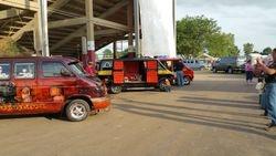 Vans on show