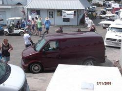 Vans  along vendors row