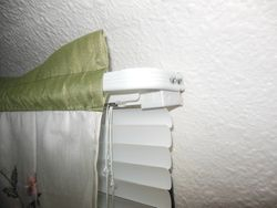 Curtain rod over couch