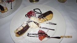 Dessert served in First Class