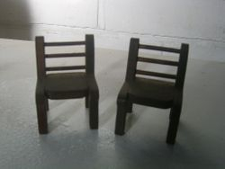 These were also available in plain unstained wood