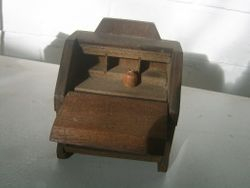 wood hinging on flap