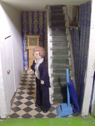 Alex waited in the hall as they inspected the little house.