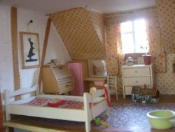 Miss Polly's room has changed to the twin's bedroom