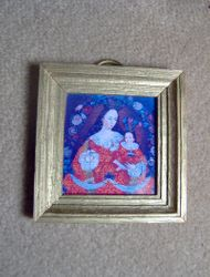 Custom made frame from coveing for dolls' house