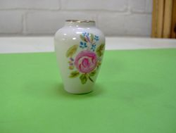 """Modern white pot """"antiqued"""" to Victorian."""
