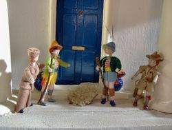 Next morning, a hunting party met on Bryan's doorstep.