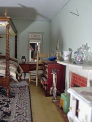 This house is almost entirely furnished with items made today - no antiques apart from the dresser, cooker and piano.