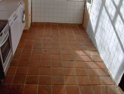 Floor laid and grouted.