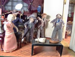 They were just about to enter the dining room to commence dinner when a ragged and panting figure rushed into the room!