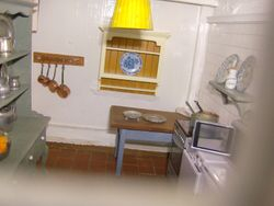 The kitchen from the front