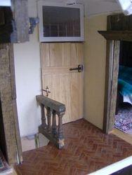 The bathroom door has been fitted -