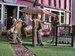 Mrs Norman suggested a game of croquet but Norman decided that they should drop in at The Dyer's Arms and meet up with old friends.