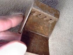 Interior of small desk shown in previous picture
