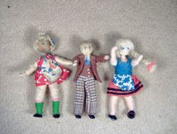 """Prewar girls and wartime """"Bill"""" in the centre."""