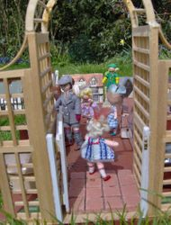 """Lazarus and Jo are taking some of the """"tinies"""" out for the day to the model village"""