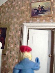 Suzannah suddenly felt quite faint. She left the room and headed upstairs to the bathroom