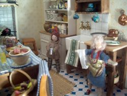 In the kitchen of King's Ransome, Harry was chatting to the new and much-needed help, Alice.