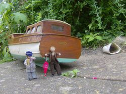 """Henry had gone to view his cabin cruiser """"Redshank"""""""