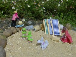 On that last day, they picked up their things and sadly left the beach.