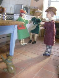 The next morning, Norah confronted Steve and Paul in their kitchen.