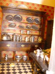 Back at Puggsley House the dogs had just been fed - by Norah, who had also polished all Bryan's pewter collection.
