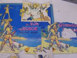 """From a Dean's """"Robinson Crusoe Cut-Out Book"""""""