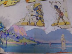 """Further fragments of Rosemary's Dean's """"Robinson Crusoe Cut-Out Book"""""""