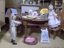 Meanwhile back at The Towers, Hilda and Cook were preparing for the Twins' birthday party.