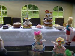The children had been stunned by the sight of the lavish spread, before they were settled in their seats.