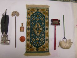 The rug and mop are BL I am assuming the tin of O'Cedar and the bottle are too