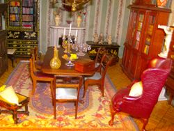 Whilst Marianne had been otherwise occupied. Hill House Antiques had quietly delivered the Jenvey set and changed the whole feel of the library.