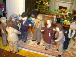 Meanwhile downstairs, the men clustered about Thomas.