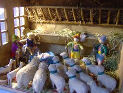 To confirm her goodness and impeccable life style, Marianne hastily gathered together some of the Gut-Scraper family and their flock.....