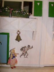 As Gretchen returned to the house she noticed that this mural was something very different to what it has been before.