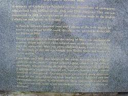 Inscription below the Mass Rock