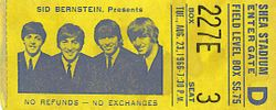 Shea Stadium ticket 1966