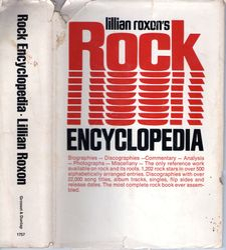 """Lillian Roxon's Rock Encyclopedia"" dust jacket"