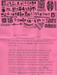 Lillian Roxon letter with Dylan & Lennon reference