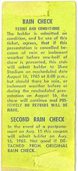 Shea Stadium 1965 ticket (back)