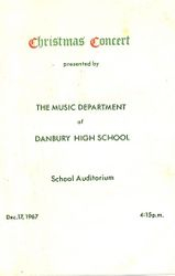 DHS 1967 Christmas Program--Cover