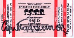 Cynthia Lennon autographed ticket