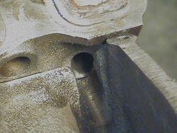 future drain back modified hole (example)