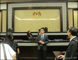 Talking on judicial proceedings in Malaysian courts. (Location: Court of Appeal)
