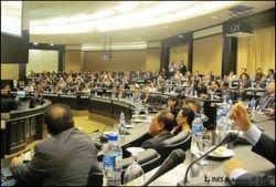 Interpreting for international delegates in the conference room