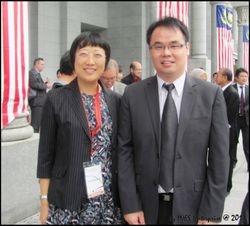 With Professor Ding Ding, Deputy Dean of School of Law